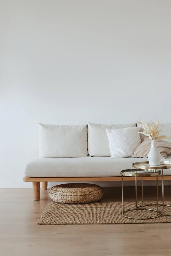 White wooden room